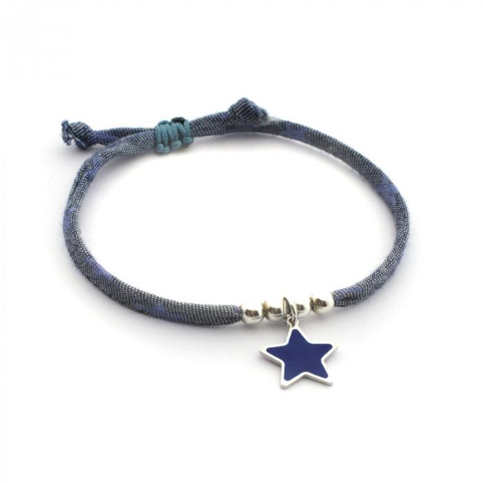Pulsera Liberty con estrella azul