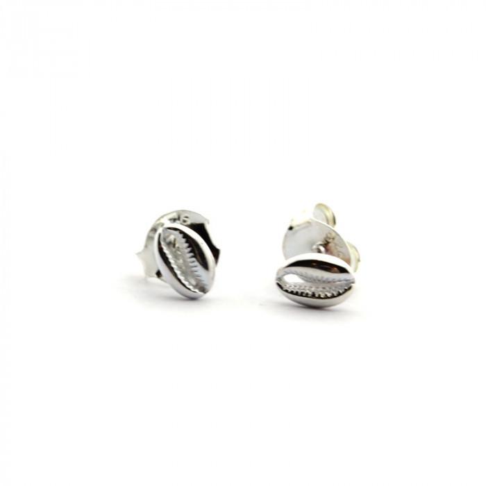 Pendientes concha mini de plata