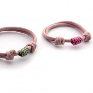 Pulsera cordón con nudos chica
