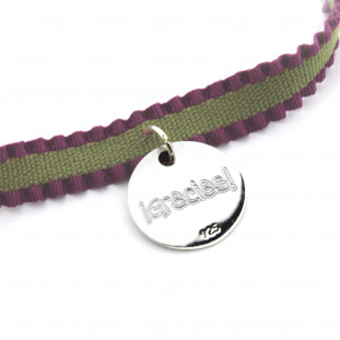 SAMI - Pulsera cinta rizada placa personalizable