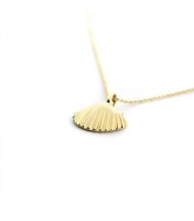 Collar CONCHA con cadena dorada de 40cm
