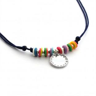 SUMMER - Collar Chaquiras y placa personalizable