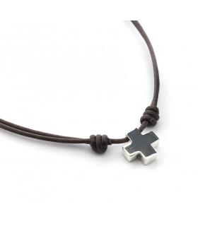 Collar Cruz pequeña en Algodón 15mm