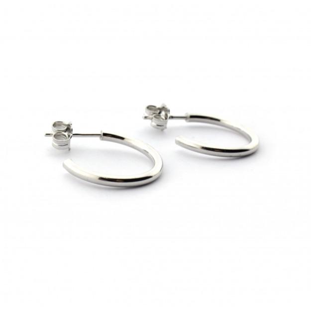 Pendientes aro 15 mm de plata