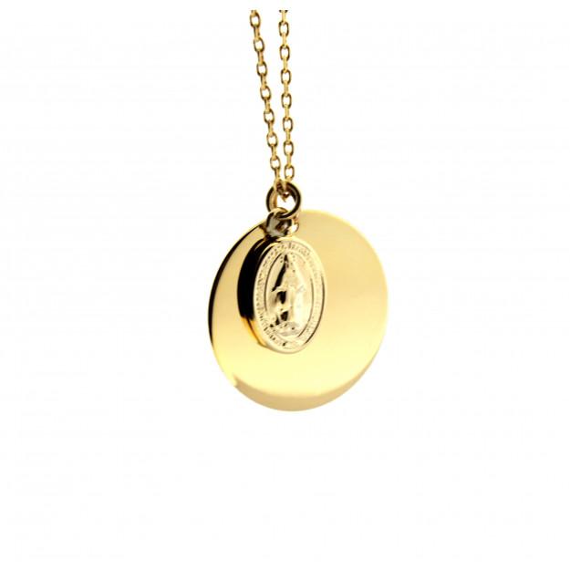 Collar MILAGROSA con medalla dorada personalizable