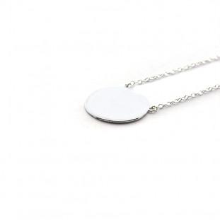 Collar Plaquita 15mm cadena fina de plata