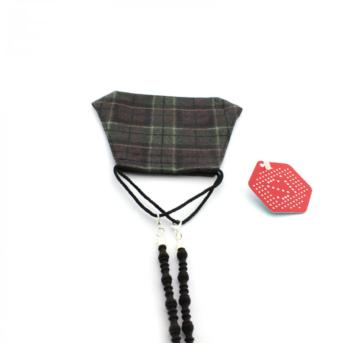Pack Mascarilla Cuadro Escocés + cuelga mascarilla