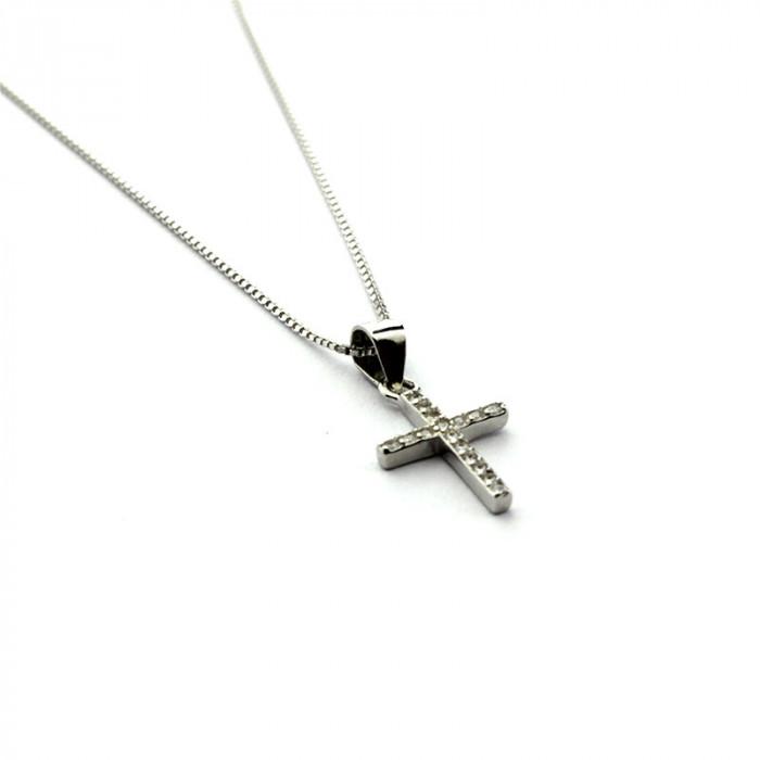 Collar cadena ajustable con Cruz de circonitas