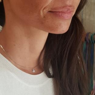 Collar cadena ajustable con circonita