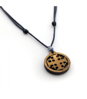 Collar Cruz de madera CRUZ DE NAZARET