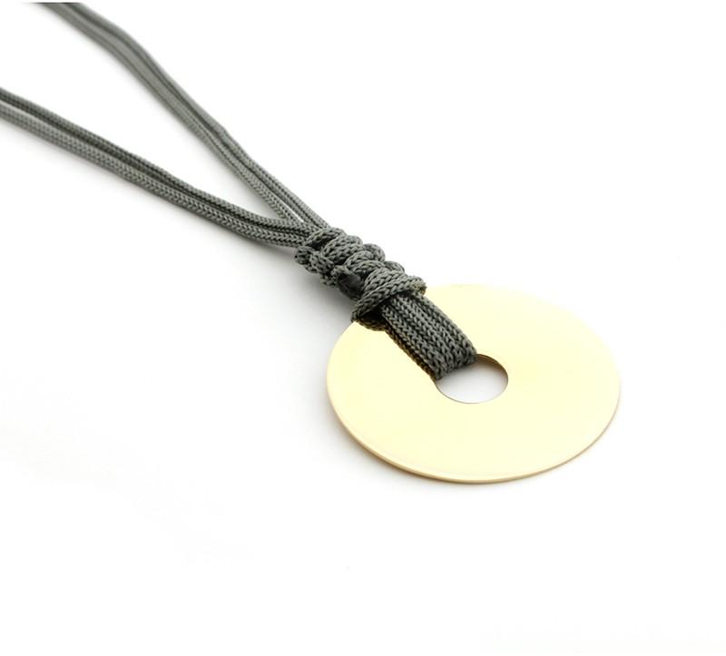 PANAMÁ - Collar Donut dorado
