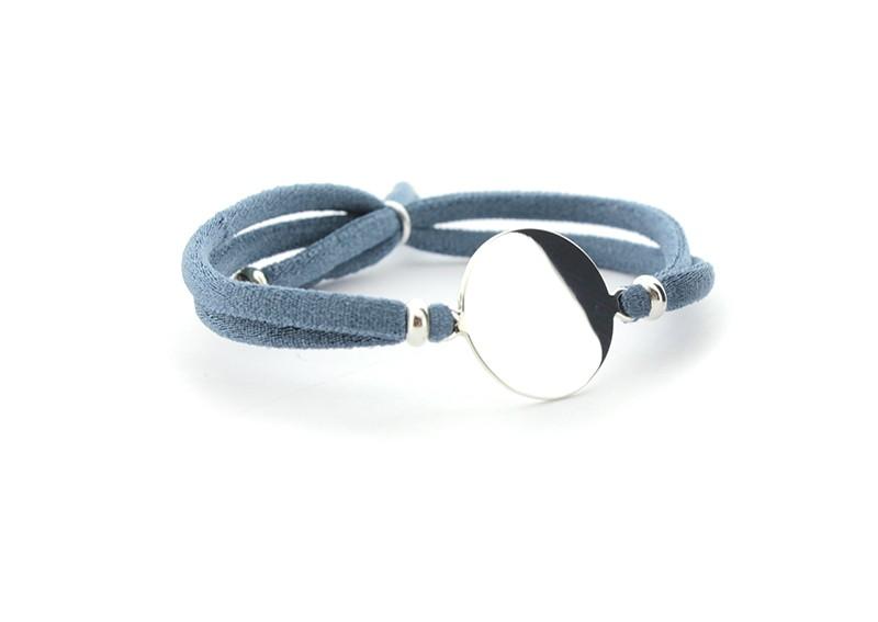 BLUEBELL grande - Pulsera PLACA cinta elástica