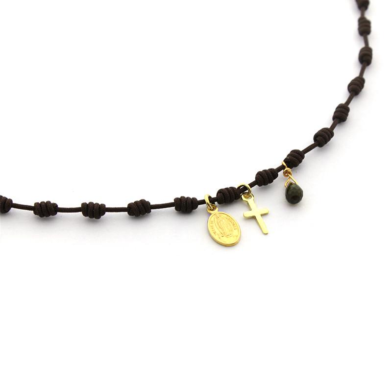 OLAYA DOR - Collar nuditos con plaquitas doradas